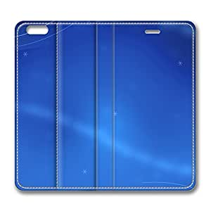 iPhone 6 4.7inch Leather Case - Blue Fashion Luxury Protective Slim Fit Skin Leather Cover For Iphone 6 [Stand Feature] [Slim - fit] Flip Leather Case Cover for New iPhone 6 wangjiang maoyi