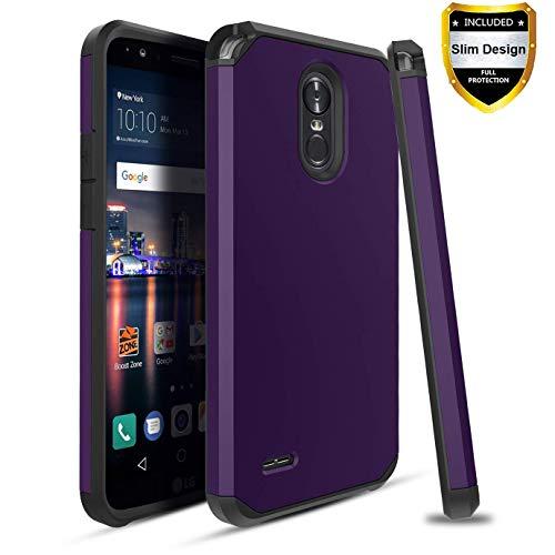 (Dingoo LG Stylo 3 Case/Stylo 3 Plus/Stylus 3 Phone Case[Hybrid Dual Layer] Hard Armor Heavy Duty Protective Cover,Purple)