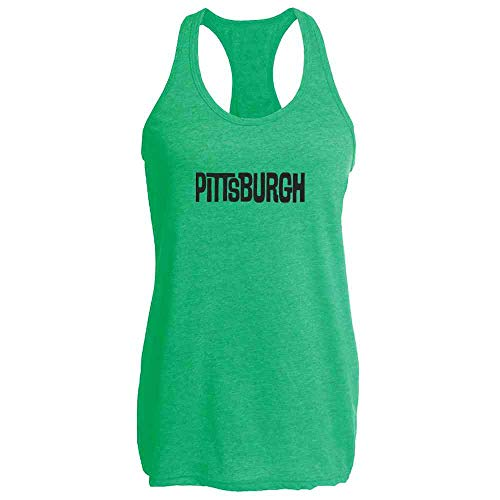 Pittsburgh Retro Vintage Travel Heather Kelly M Womens Tank -