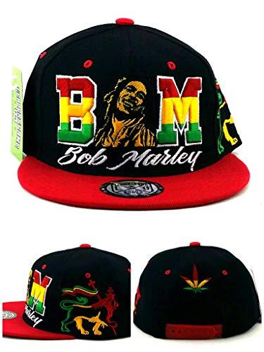 Bob Marley Leader Rasta Lion Black Red Green Yellow Era Snapback Hat Cap