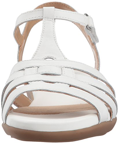 Naturalizer Women's Nanci Flat Sandal White 2014 newest online discount choice Inexpensive cheap online cheap sale pictures clearance find great 38Rq8BD1o