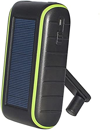 Portable Solar Charging Station and Power Bank Little Sun Charge with LED Flashlight 4400mAh