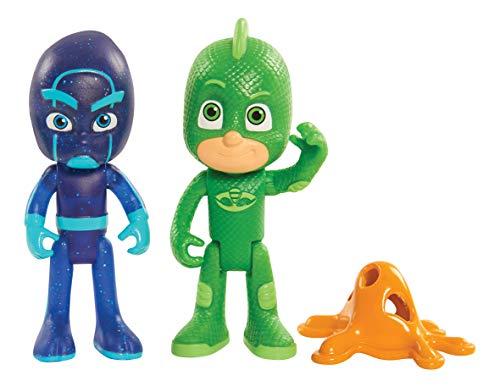 PJ Masks 2pk Light Up Figures Gekko & Ninja, Multicolor -