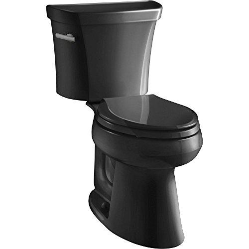 7 Black Toilet Seat - Kohler K-3979-7 Highline Comfort Height 1.6 gpf Toilet, Black Black