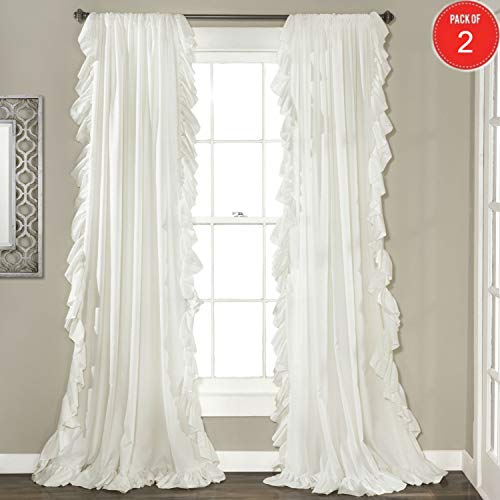 Lush Decor Reyna Window Curtain Panel Pair, 54 x 84, White