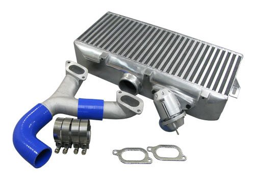Turbo Top mount Intercooler + Y pipe + BOV Kit For 02-07 Subaru Impreza WRX Sti