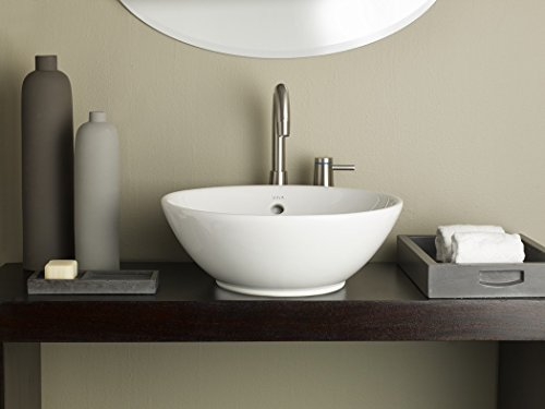 Cheviot Products Inc. 1200-WH Water Lily Vessel Sink, 16 7/8'' x 16 7/8'', White by Cheviot Products Inc.