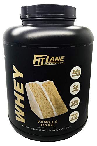 Low Carb Whey Protein Shake. Best Tasting Protein Powder for Men and Women. Protein Whey by Fit Lane Nutrition 5 lbs Vanilla Flavor