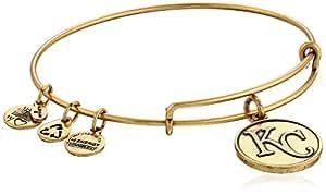 Alex and Ani Kansas City Royals Cap Logo Expandable Rafaelian Gold Bangle Bracelet