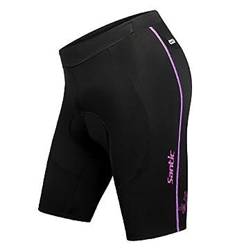 Santic Women's 4D Padded Cycling Shorts Elastic Comfortable MTB Shorts Black SANTIC(QUANZHOU) SPORTS CO. LTD.