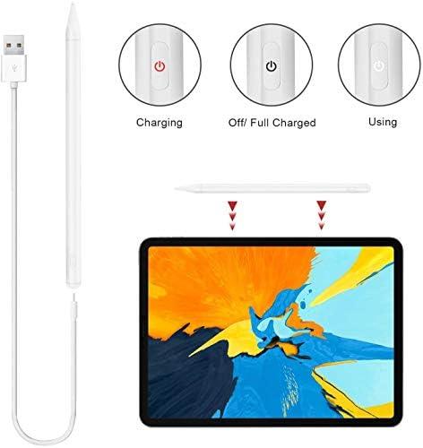 Lápiz capacitivo para iPad con rechazo de palma, (2018-2020) lápiz iPad con diseño magnético para Apple iPad, iPad (6/7 Gen)/iPad Pro (11/12.9 pulgadas)/iPad Mini Gen 5/iPad Air Gen 3 (blanco) 9