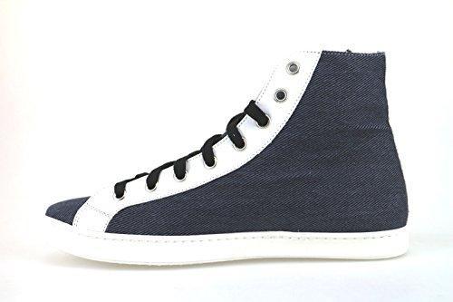 Braccialini Zapatos Mujer Sneakers Azul Textil Cuero AH370 (38 EU)
