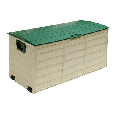 60 Gallon Plastic Deck Box Color: Beige / Green by Starplast