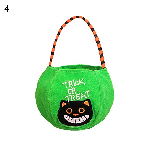 Maserfaliw Toys Cartoon Halloween Kids Trick or Treat Velvet Cloth Candy Gift Pouch Bag Prop - 4# for $<!--$2.29-->
