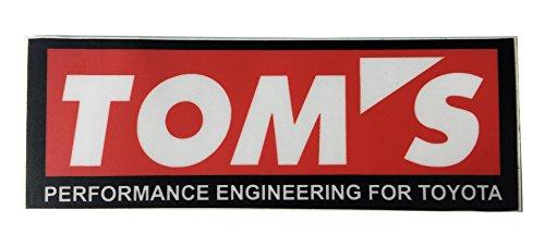 (Toyota Motorsport Tom's Performance Engineering Automotive Japanese Car Decal - Orafol Vinyl Sticker)