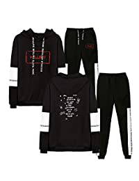SERAPHY Unisex Lil Peep Tops and Pants Fashion Casual Sport Sweater Clothing Sets