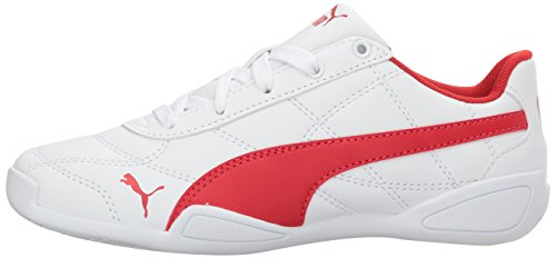 Scarlet flame White 3 Kids' Sneaker Tune Cat Puma 8qR6w04x