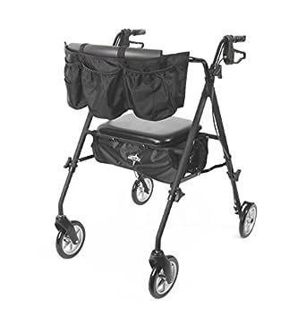 Medline Stealth Premium plegable aluminio andador rollator ...