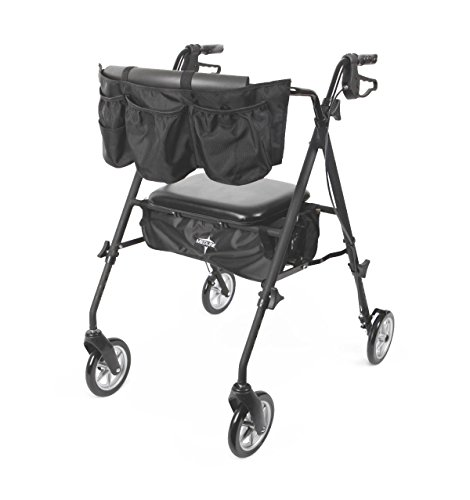 medline Stealth Premium Folding Aluminum Rollator Walker ...