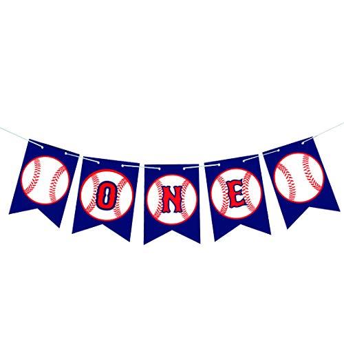 Baseball High Chair Banner- Baseball Banner - Baseball One Banner - 1st Birthday Banner - Sports Banner - Baseball Party - Baseball Theme – Sports Banner – Baseball Baby shower - Birthday Party Fa