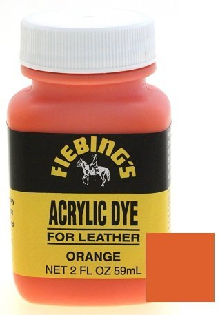 - Fiebings Acrylic Dye For Smooth Leather Water Resistant Quick Dry Orange