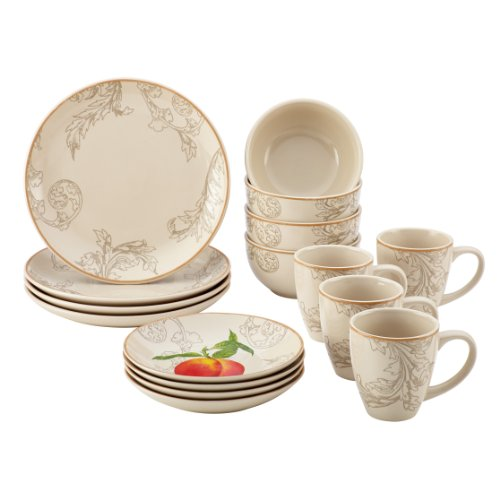BonJour 16-Piece Dinnerware Orchard Harvest Stoneware Set