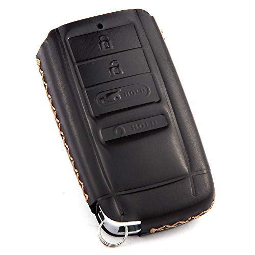 (Cadtealir Calfskin Genuine Leather Key fob Cover case Holder for Acura RLX ILX TLX TSX MDX RDX RSX TL NSX)