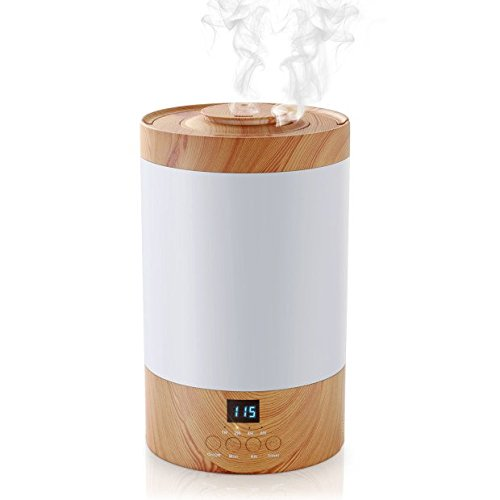 REIDEA Ultrasonic Humidifier, 3L Whisper-Quiet Cool Mist Humidifier with LED Display, Adjustable 40-85% RH & Two Mist Levels Humidifying Unit for Home Bedroom Baby Office Yoga Spray