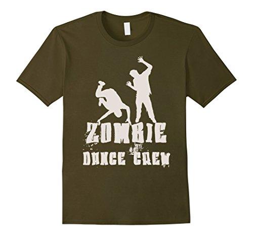 Break Dancer Halloween Costume (Mens Halloween Zombie Dance Crew Costume T-Shirt Men Women Kids Small Olive)