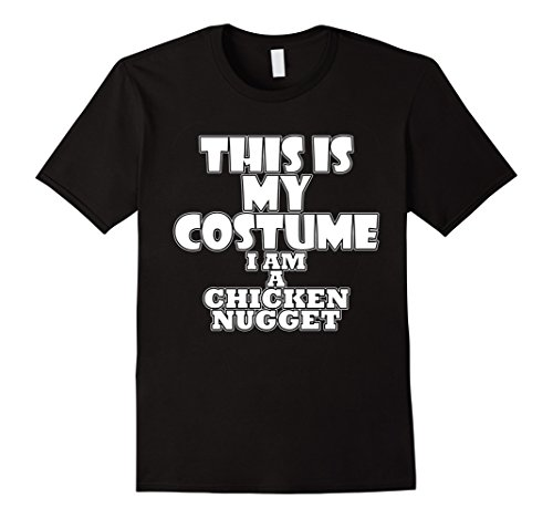 Mens Chicken Nugget Funny Halloween Costume Idea T-Shirt XL Black (Pair Costume Ideas For Halloween)