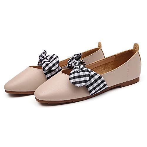 FLYRCX Zapatos cómodos Ocasionales Dulces del Trabajo del Arco Zapatos Planos de Las Mujeres Embarazadas de los Zapatos de Las señoras B