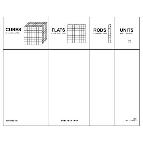 Differentiated Base Ten Blocks, Class Set of 488, Includes 4 Base Ten Place Value Mats by hand2mind (Image #5)
