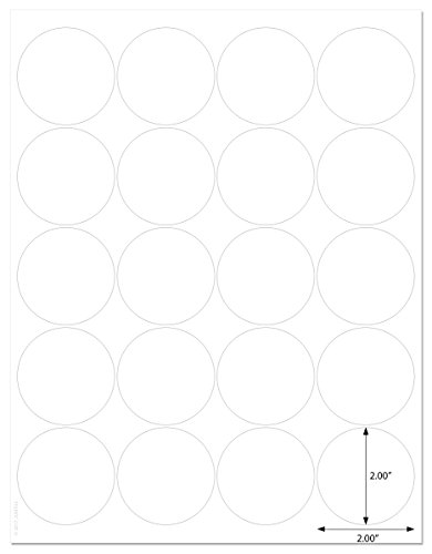 Waterproof White Matte 2 inch Diameter Circle Labels