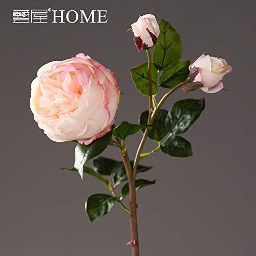 VANESSA Silk Artificial Rose Flower Pink Roses Bouquets Table Centerpieces for Home Hotel Office Wedding Party Garden Craft Art Decor