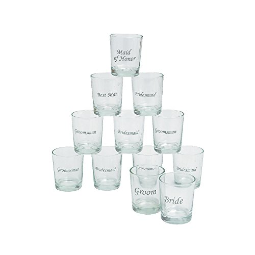 Bridesmaid Shot Glasses (Etched Glass Wedding Party Shot Glasses (1)