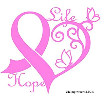 amazon com ur impressions pnk cancer awareness ribbon heart life