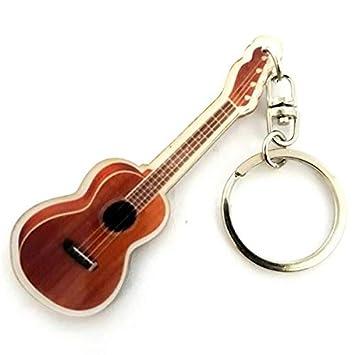Llavero de acrílico forma ukelele: Amazon.es: Instrumentos ...