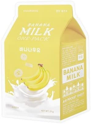 Mascarilla Nutritiva Apieu Banana Milk Sheet Mask (Pack de 3): Amazon.es: Belleza