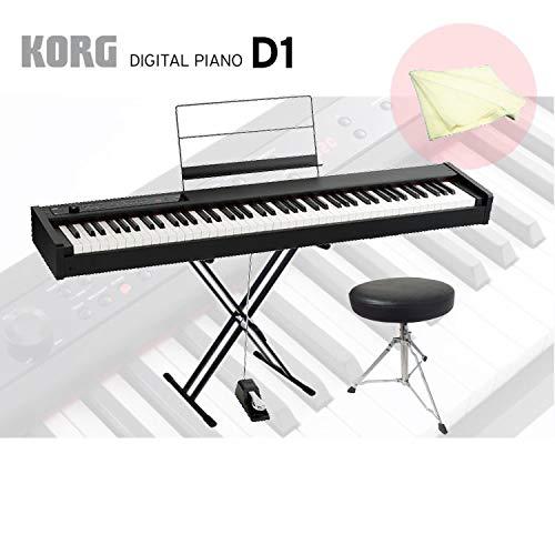 高い素材 コルグ 電子ピアノ D1 D1/KORG D1 電子ピアノ【X型スタンド/キーボード椅子/クロス付き】 B07H3JXGKT B07H3JXGKT, モノクル(Toys & インテリア):e9dd041f --- arianechie.dominiotemporario.com