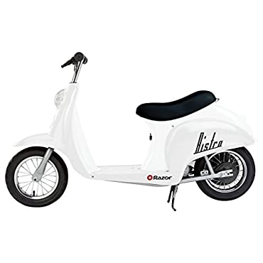 Razor Pocket Mod Miniature Euro 24 Volt 250 Watt Electric Retro Scooter, White
