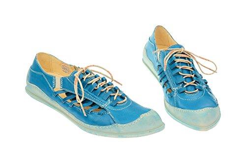 zapatos Eject17107 azul cordones Mujer claro con 003 5wfqxRH