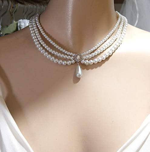 150cm Long PEARL NECKLACE Bead Rope Chain Vintage Wedding Bridal Costume