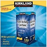 By breaking down lactose (milk sugar) it helps make dairy foods easier to digest and helps to prevent uncomfortable symptoms. - Kirkland Signature Fast Acting Lactase - Compare to Lactaid - 180 Caplets