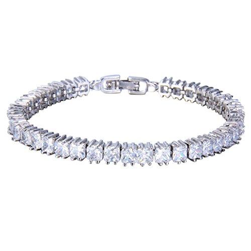 Amazon Lightning Deal 77% claimed: Ever Faith Silver-Tone Full Zircon Art Deco Bracelet Hand Chain Clear N05678-3