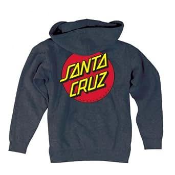 Santa Cruz Mens Classic Dot Hoody Pullover Sweatshirt Medium Charcoal Heather