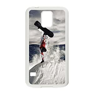 Snowboarding Samsung Galaxy S5 Cell Phone Case White pymz