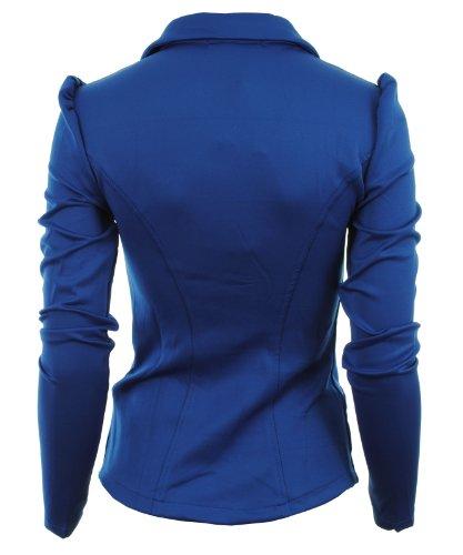 El Mujer Girl De Cobalto Mardela Pared Hombro Frontal Chaqueta Gracious 5 Ponte Blazer Señoras nbsp;botón Para Bold Azul Perchero q1vEwE
