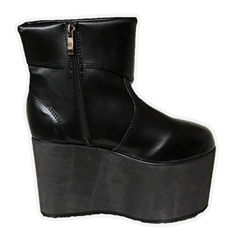Black Monster Platform Boots Frankenstein Shoe Halloween Costume Accessory SM-XL -