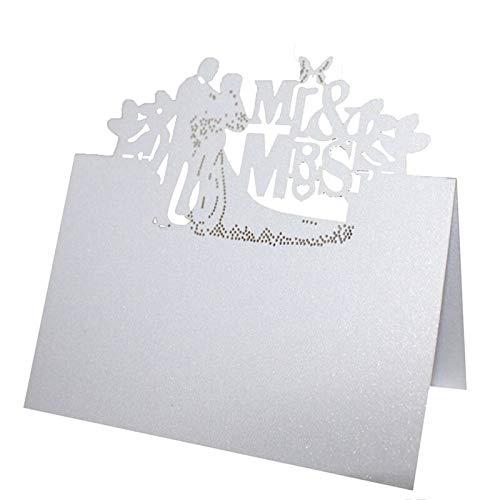 Wedding Card Table - Table Wedding Cards - Wedding Table Cards - 50pcs Laser Cut Heart Shape Table Name Card Place Card Wedding Party Decoration Favor. -