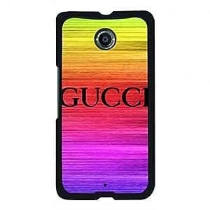 TPU Google Nexus 6 Gucci Phone Case,Gucci Pattern Luxury Logo Back Cover For Google Nexus 6